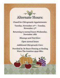 Chiropractic Hours